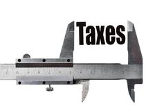 Measuring taxes Royalty Free Stock Image