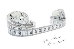Measuring to control weight. During a time of dieting stock photography