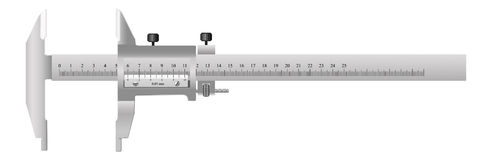 The measuring tool. For quality assurance of details in mechanical engineering and in other manufactures Stock Photography
