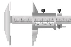 The measuring tool. For quality assurance of details in mechanical engineering and in other manufactures Royalty Free Stock Photo