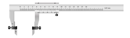 The measuring tool. For quality assurance of details in mechanical engineering and in other manufactures Stock Images