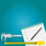 Measuring tools and measurement tape  background Royalty Free Stock Photos