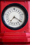 Measuring unit. Red analog measuring unit instrument Royalty Free Stock Photo