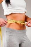 Measuring waist Stock Photography