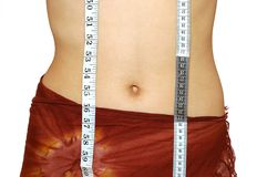 Measuring waist Stock Photo