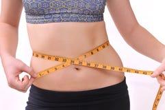 Measuring waist Stock Photo