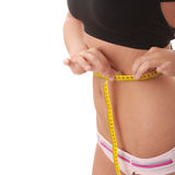 Measuring waist Stock Photography