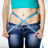 Measuring Waist Royalty Free Stock Photography
