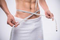 Measuring waist Stock Image