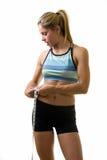 Measuring waist line stock photography