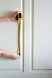 Measuring the Wall Royalty Free Stock Images