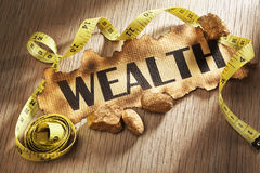 Measuring wealth concept Stock Images