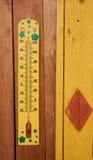 Measuring winter temperature Stock Image