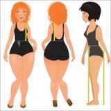 Measuring woman body Royalty Free Stock Photos