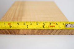 Measuring wood Royalty Free Stock Image