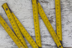Measuring wood meter Royalty Free Stock Photos