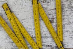 Measuring wood meter Royalty Free Stock Photos