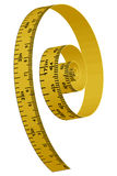 Measuring yellow tape. Illustration of measuring yellow tape stock illustration