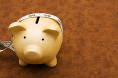 Measuring your savings Stock Image