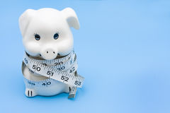 Measuring your Savings Royalty Free Stock Photos