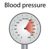 MeasuringHypertension de la tensión arterial alta fotografía de archivo libre de regalías