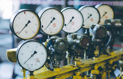 Measurment indicator scale. Industrial factory equipment meter royalty free stock photography