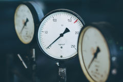 Measurment indicator scale. Industrial factory equipment meter royalty free stock photo