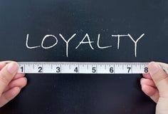 Measuruing lojalitet royaltyfria bilder