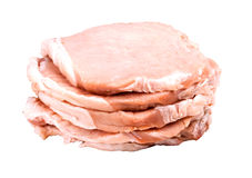 Meat. Syezhee meat pork, beef, cut fine slice Stock Images