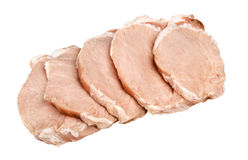 Meat. Syezhee meat pork, beef, cut fine slice Royalty Free Stock Images