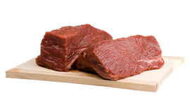Meat. Piece of fresh meat on white background Royalty Free Stock Photos