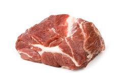 Meat. Piece of fresh meat on white background Royalty Free Stock Photography
