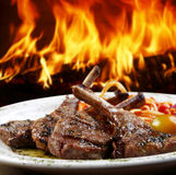 Meat. Cooked in wood oven Stock Photos