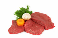 Meat. Raw meat isolated on white Royalty Free Stock Images