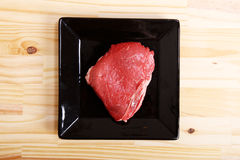 Meat. Some raw meat on a Plate Royalty Free Stock Photography