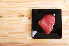 Meat. Some raw meat on a Plate Royalty Free Stock Image
