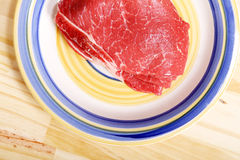 Meat. Some raw meat on a Plate Stock Photos