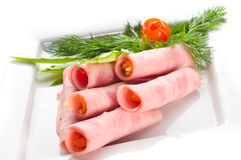 Meat allsorts. With vegetables beautiful Royalty Free Stock Photo