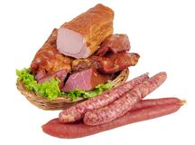 Meat And Sausage Stock Photo