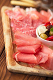 Meat antipasti Platter of Cured Meat Royalty Free Stock Photo