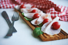Meat appetizer Stock Images