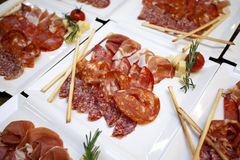 Meat appetizers Royalty Free Stock Photo