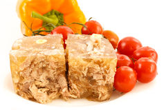Meat in aspic Royalty Free Stock Images