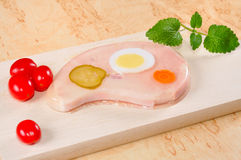 Meat in aspic. Stock Photo
