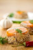 Meat Aspic Stock Photo
