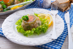 Meat aspic Stock Photography