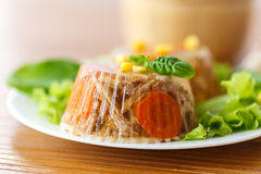 Meat aspic Royalty Free Stock Image
