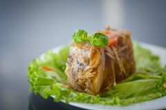 Meat aspic Royalty Free Stock Images