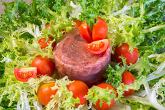 Meat aspic salad on endive Stock Image