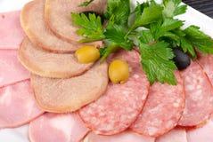Meat assortment  Stock Photos